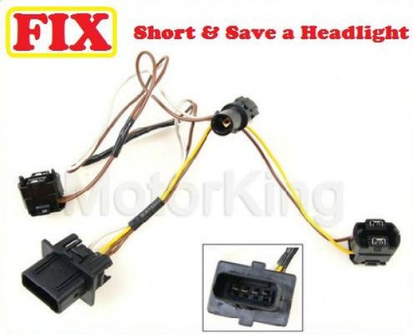 96 00 mercedes e320 headlight wire wiring harness connector repair rh motor king com Ford Wiring Harness Connectors Wiring Harness Terminals and Connectors
