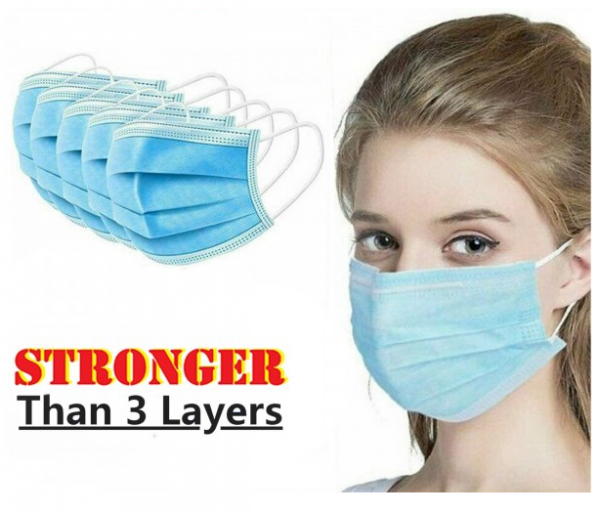 4 Layer Disposable Face Mask Anti Dust Personal Protection - 50 Pcs