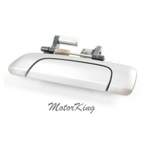 MotorKing B3917 Rear Driver Left Outside Door Handle NH623M Satin Silver (Fits for 01-05 Honda Civic)