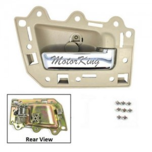 MotorKing BJ0004-NS Rear Passenger Right Inside Door Handle Beige/Chrome (Fits for 2005-2011 Jeep Grand Cherokee)