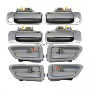 DS08 For Toyota Camry Inner Sage / Outer Gray 1B2 Door Handle Set 8pcs 97-01