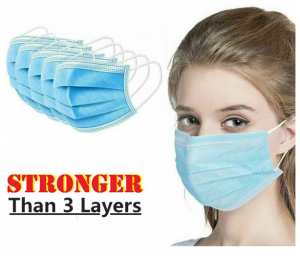 4 Layer Disposable Face Mask Anti Dust Personal Protection - 100 Pcs