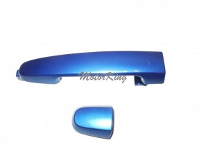 Rear Outside Door Handle W/O Keyhole For 2001-2013 Pontiac Scion Toyota Camry Corolla RAV4 tC xA xB Blue Mica Met 8Q1