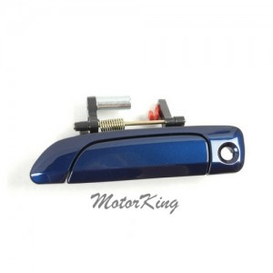 MotorKing B3939 Front Driver Left Outside Door Handle B96P Blue Painted (Fits for 2001-2005 Honda Civic)