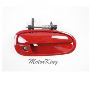 MotorKing B4060 Front Right Outside Door Handle R81 Milano Red (Fits for 96-00 Honda Civic)