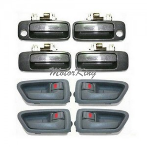 MotorKing DH87 4 Gray Inside / 4 Gray 1C6 Outside Door Handle Set (Fits for 97-01 Toyota Camry)