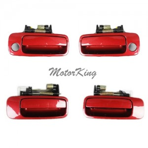MotorKing DS165 Outside Door Handle Set of 4 SUNFIRE RED 3K4 (Fits for 97-01 Toyota Camry)